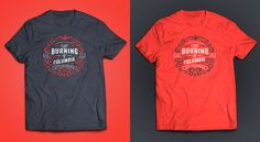 The Burning of Columbia Garra, Pop Design, Design Art, Design Ideas, Tee Shirts, Tees, Art Direction, Columbia, Burns