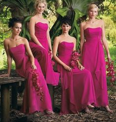 Find More Bridesmaid Dresses Information about New Long Chiffon Fushia Bridesmaid Dresses Formal Wedding Party Bridesmaid Gown 2015,High Quality gown wedding dress,China dress beige Suppliers, Cheap dress more from Hh-Dress on Aliexpress.com