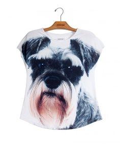Camiseta Premium Evasê Schnauzer  www.usenatureza.com #UseNatureza #JeffersonKulig
