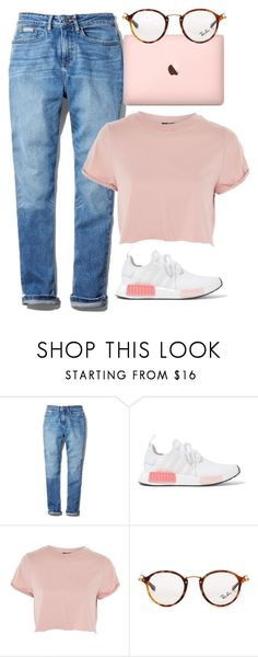 """Untitled #804"" by victoriaam99 ❤ liked on Polyvore featuring Calvin Klein, adidas Originals, Topshop and Ray-Ban"