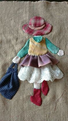 Ulla's Quilt World: Quilt bag - Japanese patchwork Sewing Appliques, Applique Patterns, Applique Designs, Embroidery Applique, Quilt Patterns, Embroidery Designs, Sewing Patterns, Applique Ideas, Hand Applique