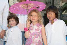 Marc, Laia y Kayrat de Sugar Kids para pasarela Petit Style Walking
