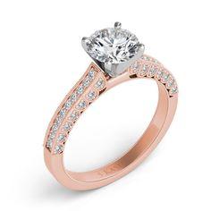 Rose Gold Engagement Ring style number EN7509RG.