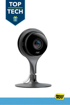Nest Cam NC1102ES High-Definition Video Monitoring Camera: Keep a vigilant eye on your home to monitor for intruders, or to simply keep tabs on your kids or pets with this indoor-use camera. Night vision lets you see in the dark and the Nest app notifies you when the camera detects motion or sound. You can even stream live HD video to your iOS or Android device for remote monitoring, and archive recorded footage.