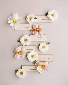 Wedding place cards are a great way to add personality to your wedding reception decor. Farm Wedding, Wedding Table, Wedding Place Cards, Wedding Reception Decorations, Event Photography, Paper Goods, Floral Design, Bloom, Place Card Holders