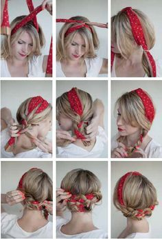 Finally, a cute hairstyle for when I'm on the bike. I could do something like this.