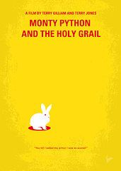 Minimalist Movie Posters - Prints - No036 My Monty Python And The Holy Grail minimal movie poster Prints by Chungkong Art