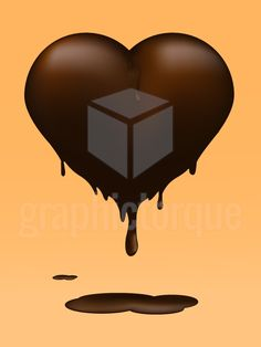 Melting Chocolate Heart