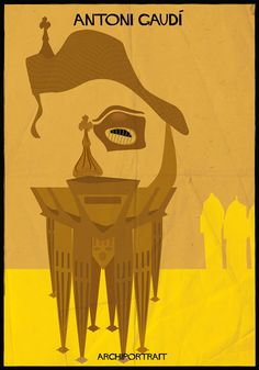 Architects' faces are made up of their buildings in Federico Babina's Archiportraits series