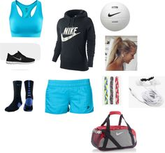 """lets play some volleyball"" by ashleehartman on Polyvore"