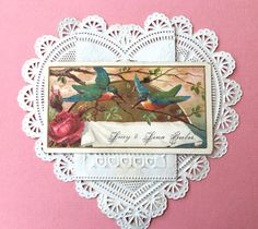 Charming Victorian Calling Card-Sisters Lucy by Moonmaidenemporium