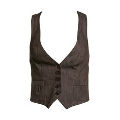 Charlotte Russe - Casual Tops: Vests# ❤ liked on Polyvore featuring outerwear, vests, vest, jackets, tops, chalecos, charlotte russe, charlotte russe vest, brown vest and vest waistcoat