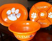 CLEMSON - Personalized Bowl, Platter, and Serving Tray - Plastic