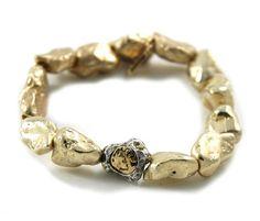 GOLD CAPRI NUGGET BRACELET – Tat2 Designs