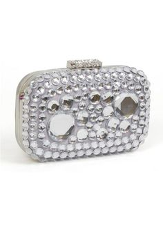 Magid E7486 Jeweled Box Clutch - Silver Clutch Prom Accessories, Silver Clutch, Prom Jewelry, Girl Closet, Prom Pictures, Jewel Box, Trendy Shoes, Bracelet Watch, Jewels