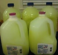Homemade Laundry Soap $0.86 per 64 loads, takes about an hour to make.