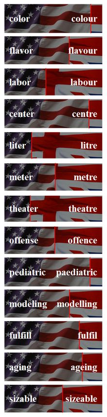 American and British English spelling differences - Wikipedia, the free encyclopedia British Spelling, English Spelling, English Words, English Vocabulary, English Grammar, Teaching English, English Language, English Tips, English Fun