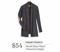 Stitch Fix September 2016 - Honey Punch, Novah Elbow Patch Textured Cardigan