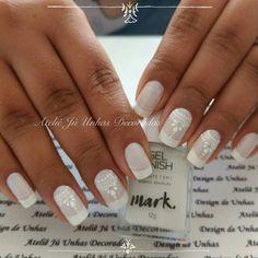 Bride Nails, Wedding Nails, French Nail Art, Acrylic Nails, Nail Designs, Lily, Moka, Bridal Nail Design, Nail Art Designs