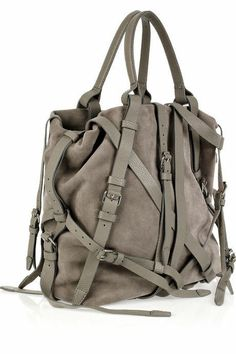 f723393042c3 NWT ALEXANDER WANG Kirsten Gray Suede Strappy Tote Bag Purse  945