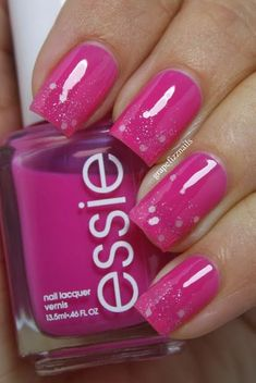 grape fizz nails Breast Cancer Awareness