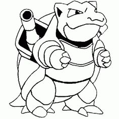 pokemon coloring pokemon coloring pokemon picture tortank coloring fight free - Color Pitchers