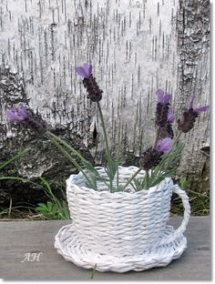 tutorial of how to make teacup from newspaper are available on YouTube link: http://youtu.be/0kWchYusTAI