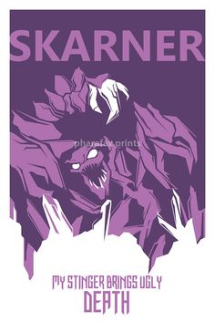 Skarner League of Legends Print by pharafax on Etsy, League Of Legends Poster, League Of Legends Boards, Champions League Of Legends, League Of Legends Characters, Lol League Of Legends, Starcraft, Lol Champ, Legend Drawing, Devian Art