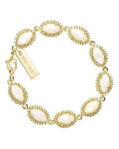 Love all the bracletts in all colors. Looks so cute worn togeher. Jana Bracelet in White Pearl - Kendra Scott Jewelry