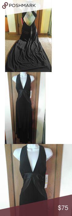 Black Open Back Morgan & Co Formal Prom Dress Sz M New with tags black Morgan & Co dress size M. Morgan & Co. Dresses Prom