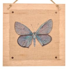 www.giftsoflovingkindness.com The warm touch of wood creates a captivating effect beyond that of traditional framed and canvas pieces. Bring the wonders of a charming butterfly garden into your home with this elegant Mazarine Wood Art in misty blue and lilac. Every product on our lovingkindness website assists in supporting change around the world. lovingkindness proudly donates to amazing charities like World Vision's Clean Water Campaign.