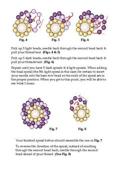 Spiral Button Free Bead Pattern by Karole Conaway Page 2