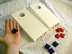 Cornhole Bag Toss - White Tabletop Cornhole Set, $19.99 (http://www.cornhole-bagtoss.com/white-tabletop-cornhole-set/)