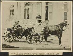 A princesa Isabel na companhia de seu consorte, o Conde d'Eu.  Palácio da princesa, Petrópolis, 1885.