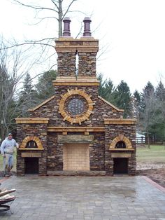 Lovely Rock And Brick Structures | Outdoor 4 Ft. Modified Rumford Fireplace With Pizza  Oven.  Outdoor Fireplace And Pizza Oven