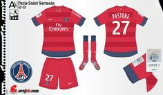 Paris St Germain away kit for 2012-13.