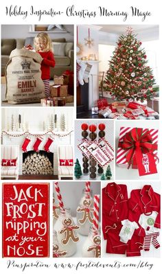 Tons and tons of ideas and inspiration boards for holiday decor!    Holiday Inspiration- Christmas Morning Magic www.frostedevents.com