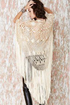 Let's Hang Fringe Kimono