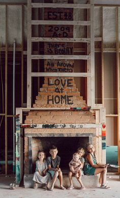 Quotes On Our FirePlace During Construction. Dream Home Construction - Arlyn LeBaron