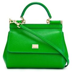 Dolce & Gabbana micro 'Sicily' tote (1 490 AUD) ❤ liked on Polyvore featuring bags, handbags, tote bags, green, handbags totes, green handbags, green purse, green tote handbag and dolce gabbana purse