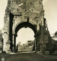 Italy Roma Arch of Druso Old NPG Stereo Photo Stereoview 1900