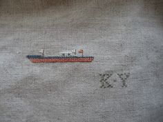 ship, simple original design stitched by Niwatoko
