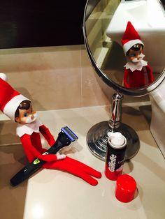 Elf on a shelf - shaving