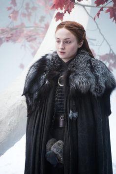 Sophie Turner as Sansa Stark in 'Game of Thrones' Season 7 Game Of Thrones Sansa, Game Of Thrones Series, Cersei Lannister, Jaime Lannister, Sansa Stark Costume, Got Costumes, Game Of Thrones Costumes, Game Of Thones, Yennefer Of Vengerberg