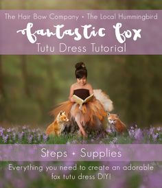Fantastic Fox Tutu Dress Tutorial - The Hair Bow Company - Boutique Clothes & Bows Diy Tulle Skirt, Diy Tutu, Diy Dress, Tutu Skirts, Tutu Dresses, Fancy Dress, Baby Girl Halloween Costumes, Homemade Halloween Costumes, Fox Halloween