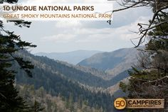 Great Smoky National Park - 10 Unique National Parks You Need To Visit -- They're all incredible!