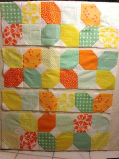 Citrus and Mint Baby Quilt Free Pattern | Theme or favorite ... : quick baby quilts free patterns - Adamdwight.com