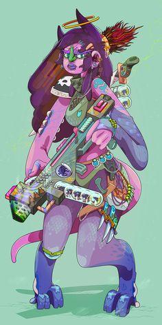 Les personnages aux couleurs acidulées crées par l'illustrateur vectoriel Andrés Maquinita