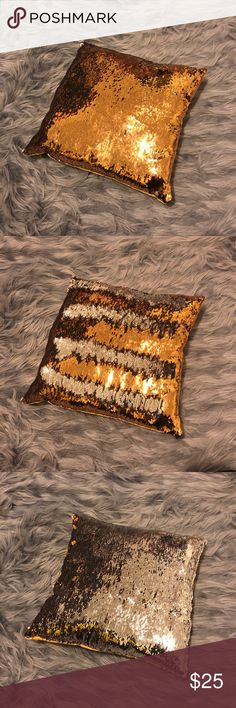 "Sequin Changing Pillow New in packaging | Boutique brand | Dimensions: 17"" by 15"" 