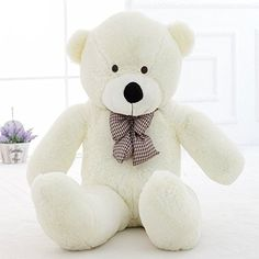 Teddy Bear Stuffed Animals Plush Pillow Giant Teddy Bear Toy White 2M  79inch * Want additional info? Click on the image.